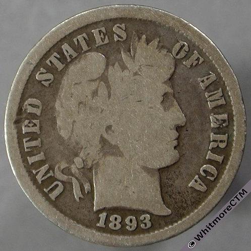 1893 USA 10 Cent obv