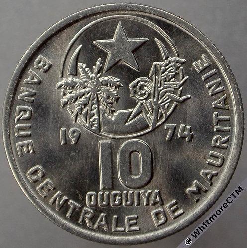 1974 Mauritania 10 Ouguiya Y4