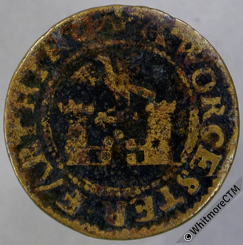 17th Century Token Worcester 122 1667 Farthing. Falcon over Castle Norweb 5733