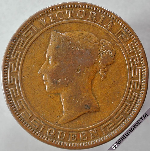 1870 Ceylon 5 Cent obv
