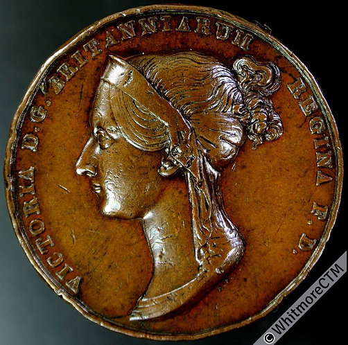 1838 Victoria Coronation Official issue Medal 36mm B1801 By Pistrucci. Bronze