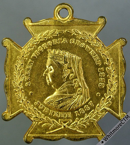 1887 Queen Victoria Golden Jubilee Medal 26mm WE2096 Unrecorded in gilt bronze