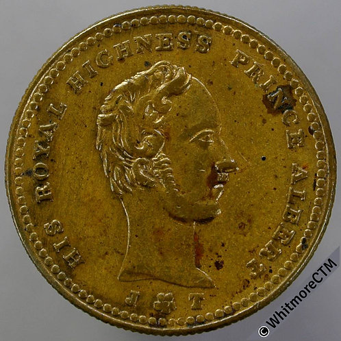 Liverpool 1846 Sailors Home Prince Albert Medal 25mm B2250 Gilt Bronze
