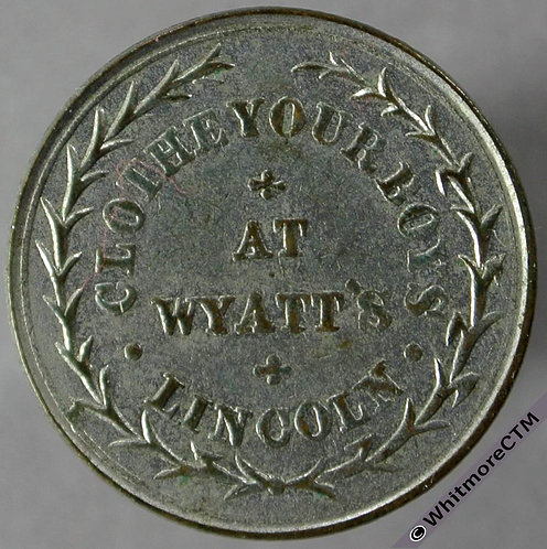 Advertising Token Lincoln 2012 Wyatts Clothing Mart Clothe your boys. Silvered