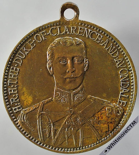 1892 Death of Duke of Clarence (Jack the Ripper?) Medal 24mm BHM3430 Rare