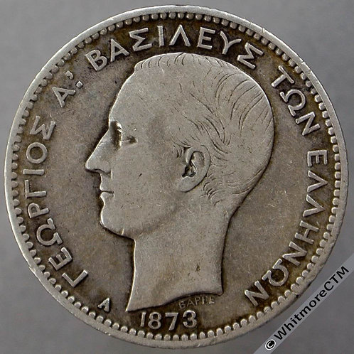 1873 Greece 1 Drachma Y7 - Silver