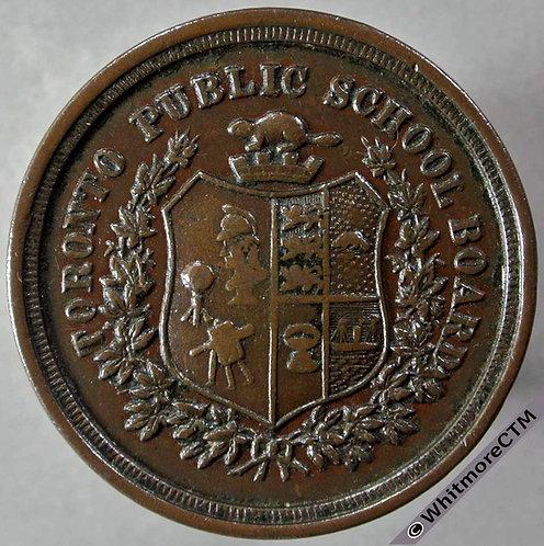 Canada Toronto Public School Board attendance medal obv 35mm Bronze