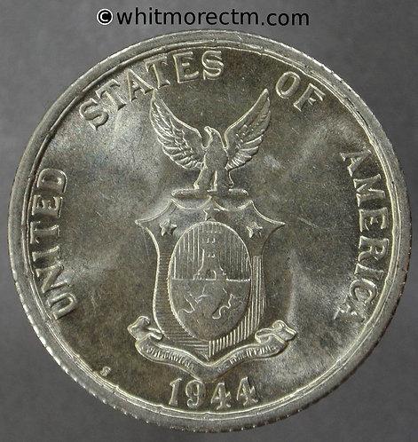 1944S Philippines / USA 50 Centavos Y33 - Silver