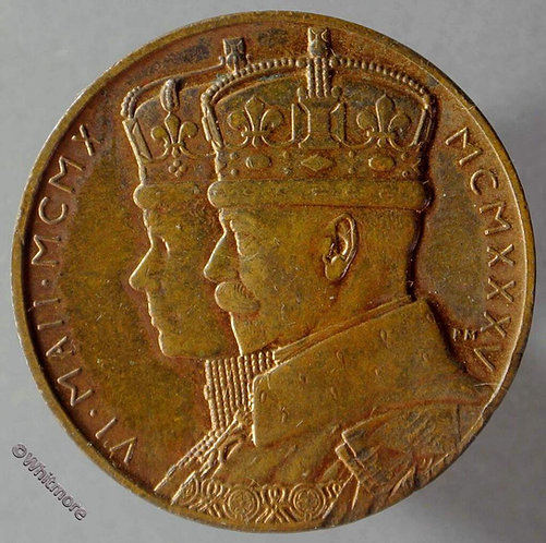 1935 South Africa Jubilee Medal 32mm George V / Queen Mary