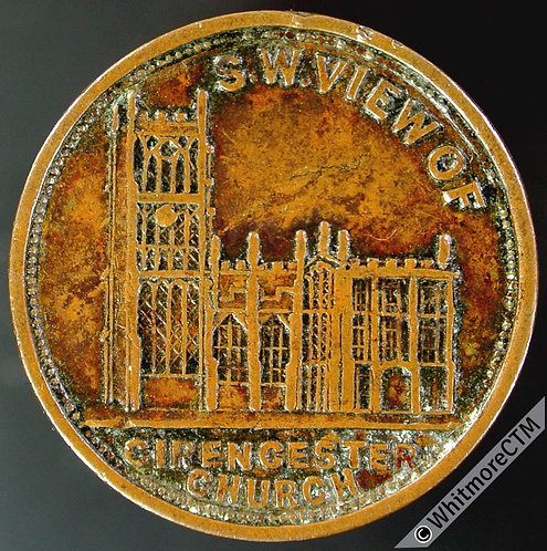 Unofficial Farthing Cirencester 1400 Hawkins Four Shilling Tea. church. Rare