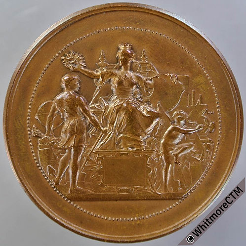 1913 France Paris Ecole D'Electricite Breguet Medal 47mm Bronze