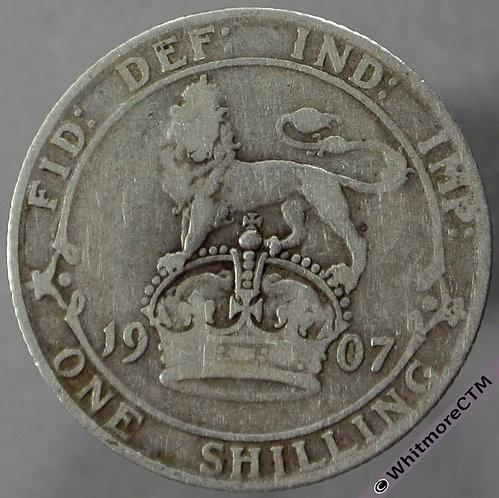 1907 British Shilling Edward VII
