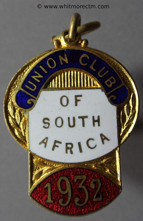 1932 South Africa Token 34x24mm Union Club of South Africa / Stamped No
