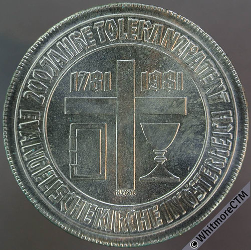 1981 Austria Crown - 500 Schilling Tolerance KM# 2954. Silver Select