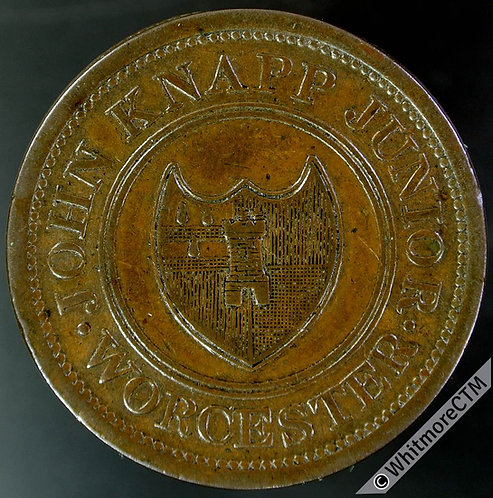 19th Century Penny Token Worcester 1276 1813 John Knapp Junior Payable in cash