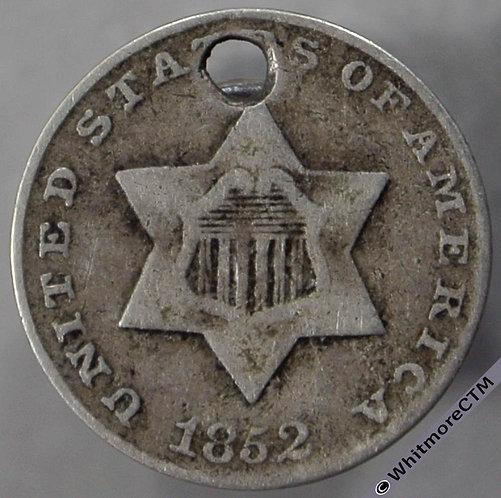 1852 USA 3 Cent - star