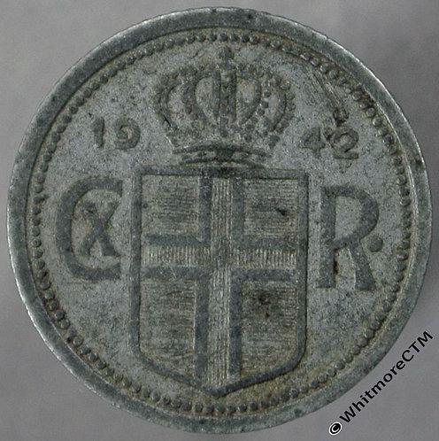 1942 Iceland 25 Aurar obv
