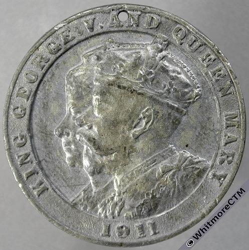 1911 George V Coronation Medal obv 39mm WE5112D White Metal