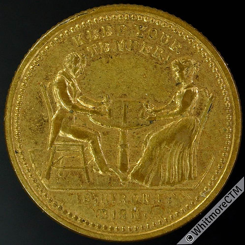 Mints Token Manufacturers Birmingham 25mm S. Hiron Medallist. Gilt Brass