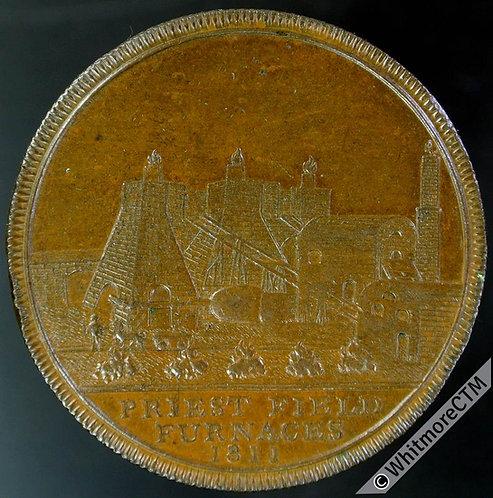 19th Century Penny Token Bilston 45 1811 Priestfield Furnaces. S F Collieries