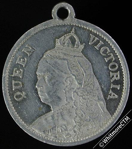 1901 Death of Queen Victoria Medal 24mm WE1946 Aluminium