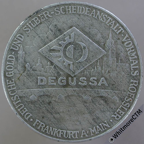 1942 Germany Calendar Medal 40mm Degussa (Makers of Death Camp Gas) Zinc