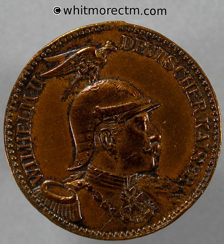 1891 Germany Wilhelm II Kaisermanöver Thuringia Medal 26mm Brass