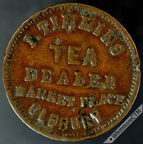 Unofficial Farthing Oldbury 4110 I.Timmins.  Tea Dealer. By Heaton