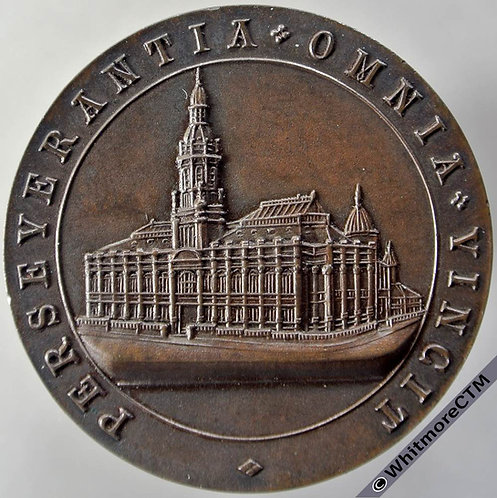 Bradford 1925 Technical College Students Union Running Medal 38mm By Fattorini