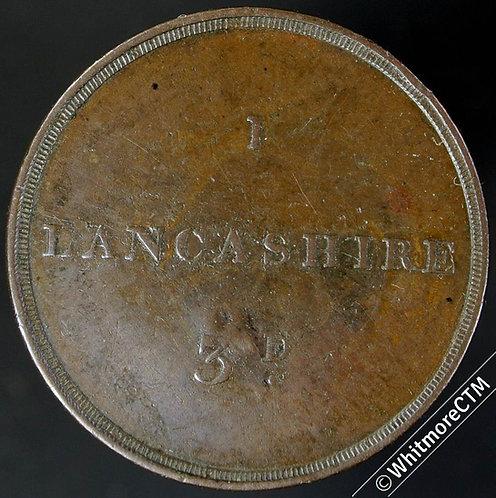 Ticket Pass Token Lancashire 28mm 336/21 1827 / 3d I. Copper. Rare – C'mkd J H