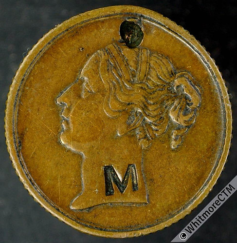 Unofficial Farthing Manchester 3460 Mitchell & Co. C'marked M Attempted piercing
