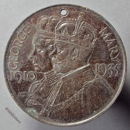 Nottinghamshire 1935 Education Committee Silver Jubilee Medal 35mm - Bronze