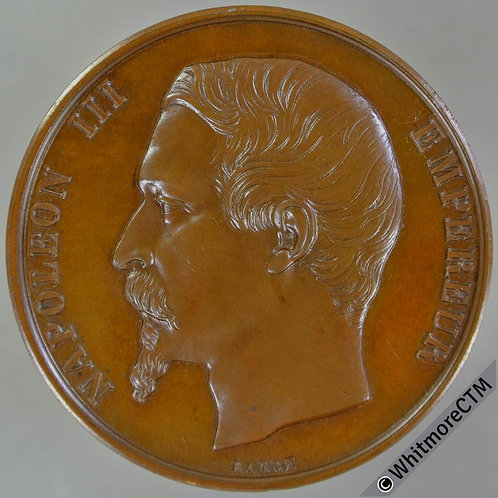 France Napoleon III Medal 41mm By Barre. Cuivre Hand edge