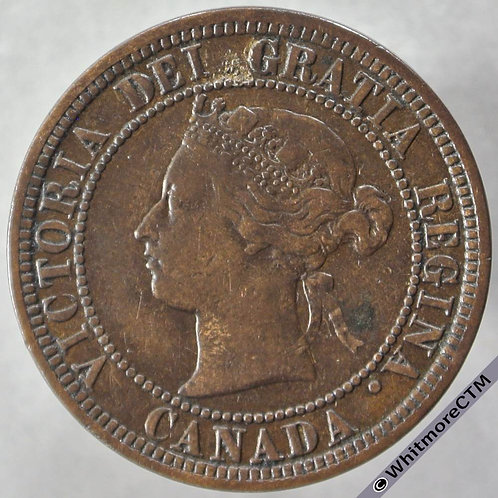 1881 Canada One Cent 1881H - obv