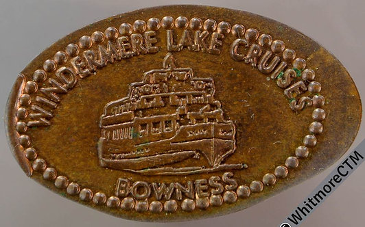 Advertising Token Bowness 34x21mm (Elougave) Windermere Lake Cruises