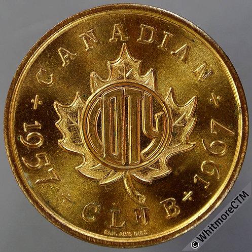 1967 Canada Punnichy Saskatchewan Coins of the Year Club Medal 31mm Gilt bronze