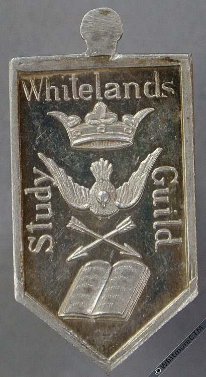 (Chelsea) Whitelands Study Guild Medal 31x16mm Pointed oblong silver