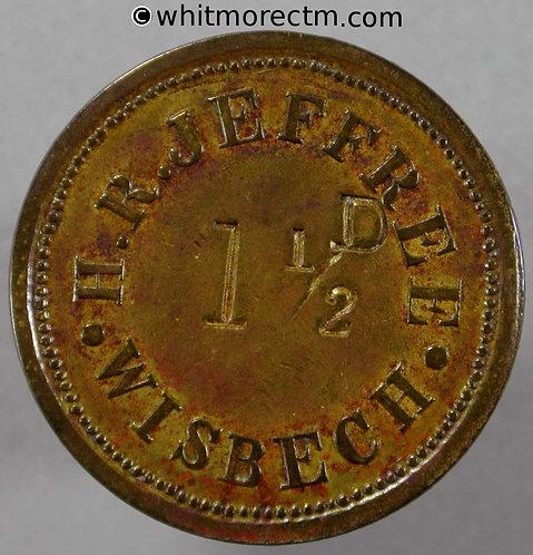 Wisbech Inn / Pub Token Old Bell H. R. Jeffree 1½ D incuse