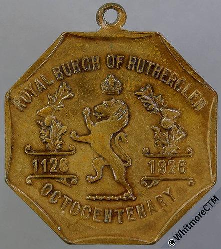 Rutherglen 1926 Octocentenary of Burgh Medal 39mm Octagonal bronze