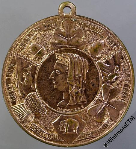 1887 Queen Victoria Golden Jubilee Medal 39mm B3308 Gilt bronze