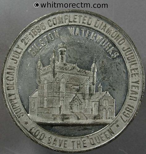 Bilston 1897 Diamond Jubilee Medal 55mm Waterworks Science & Art School