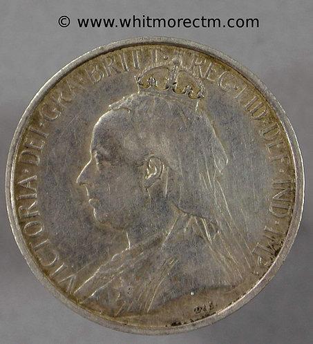 1901 Cyprus Y5 4½ Piastre coin