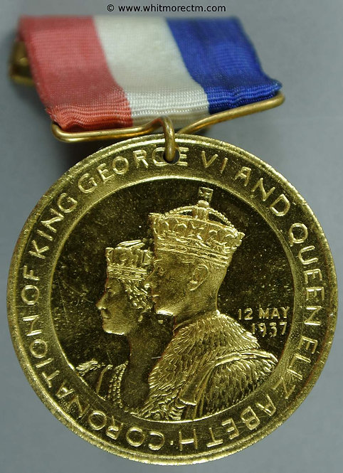 Chatham 1937 Coronation Medal George VI 35mm WE7088C