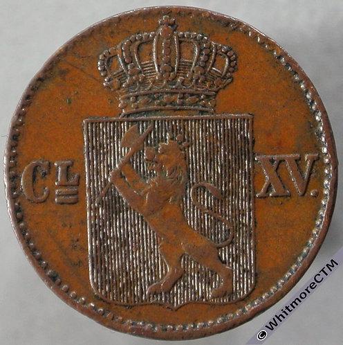 1867 Norway ½ Skilling - obv