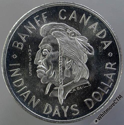 Canada Alberta Banff Token 1974 Dollar 33mm Bust of Native American