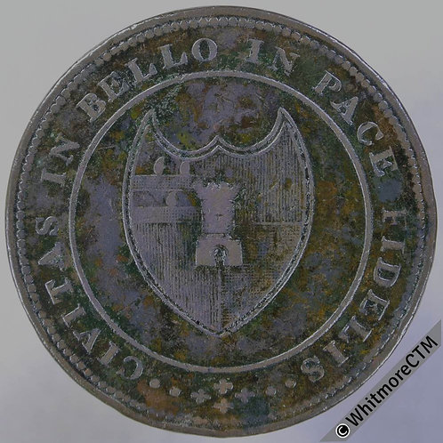 19th Century Penny Worcester 1258 1811 Arms of City / Value in wreath.