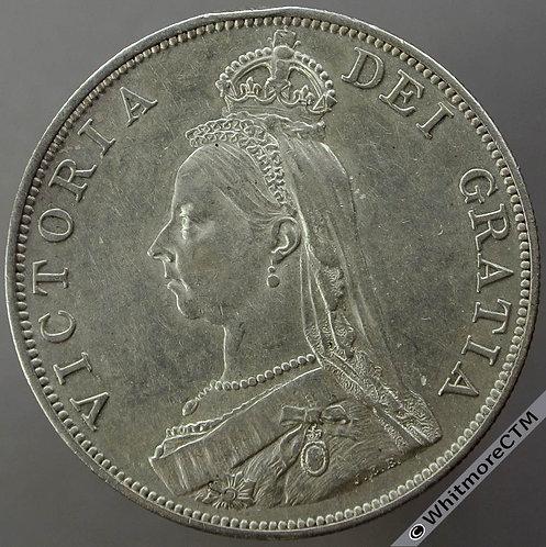 1887 Double Florin Arabic 1 - Victoria