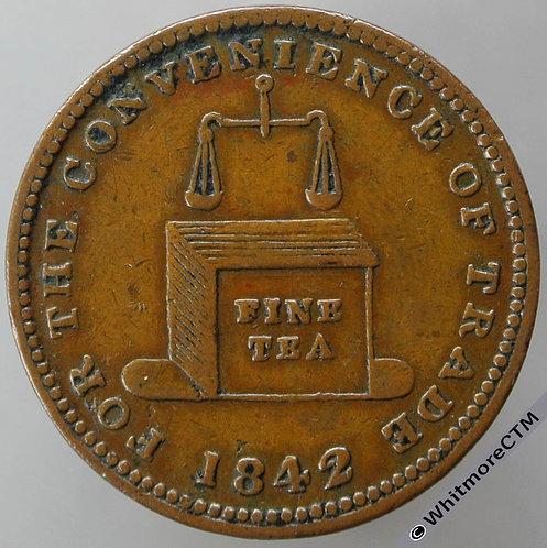 Unofficial Farthing Brierley Hill 1210 1842 W.Wheeler-Tea Dealer / Tea chest
