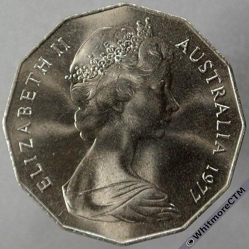 1977 Australia Silver Jubilee 50 Cents obv