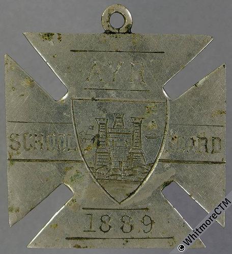 1889 Ayr School Board Medal 29mm Maltese Cross-shaped silver See D62